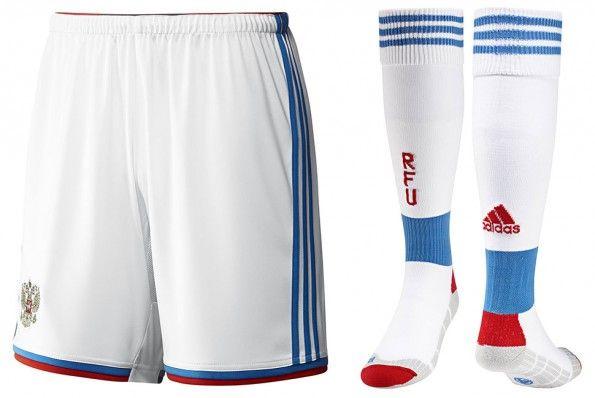 Pantaloncini calze Russia away 2014