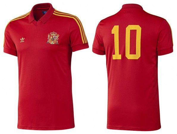 Maglia Spagna retrò adidas 2014