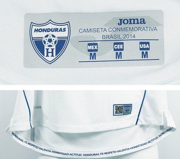 Honduras maglia home 2014 dettagli interni