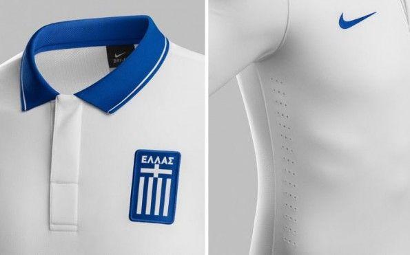 Maglia Grecia 2014 Nike dettagli