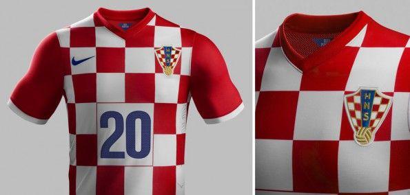 Maglia home Croazia 2014 Nike dettagli