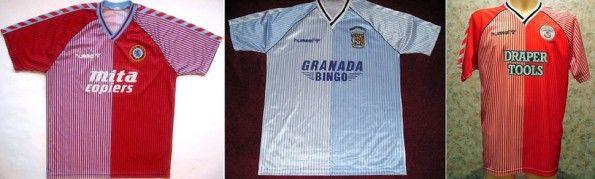 Maglie Aston Villa, Coventry, Southampton 1987-89