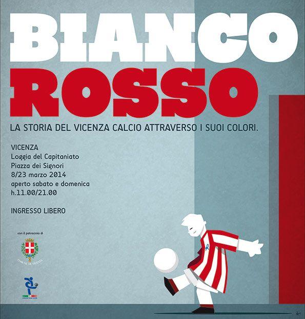 Locandina mostra Biancorosso Vicenza