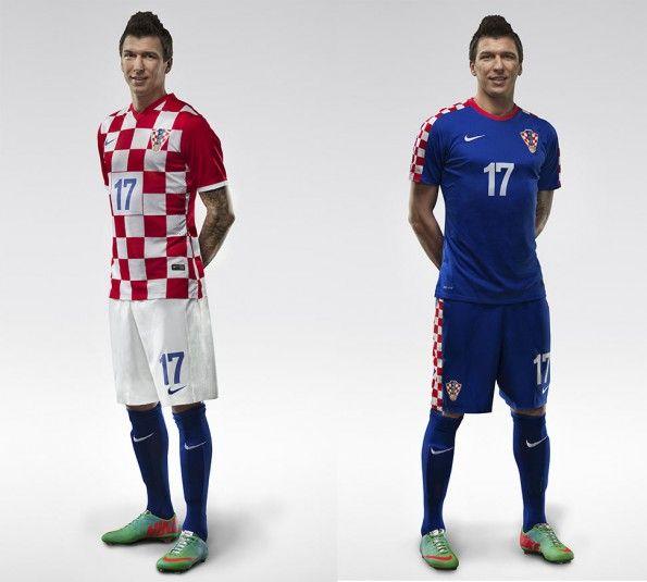 Mario Mandzukic kit Croatia 2014 Nike