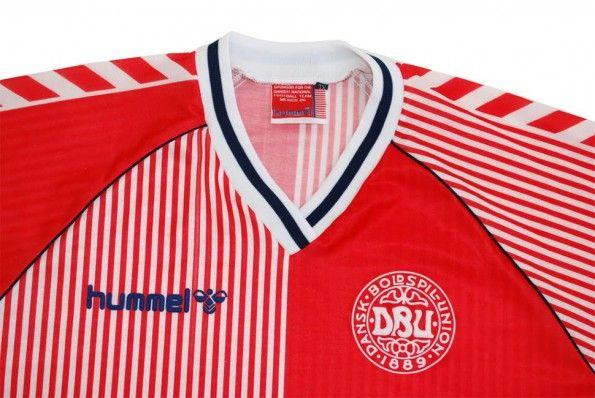 Colletto maglia Danimarca Hummel 1986