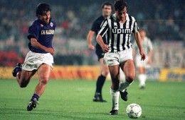 Fiorentina-Juventus, Coppa UEFA 1989-1990, Dunga e Pierluigi Casiraghi