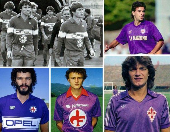 Fiorentina, maglie home, anni ottanta