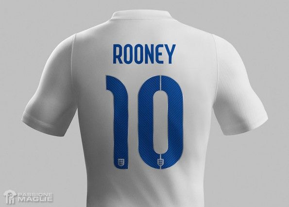 Font nomi numeri Inghilterra 2014 Nike