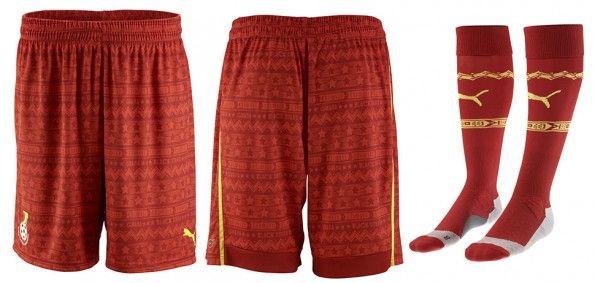 Pantaloncini calze Ghana away 2014