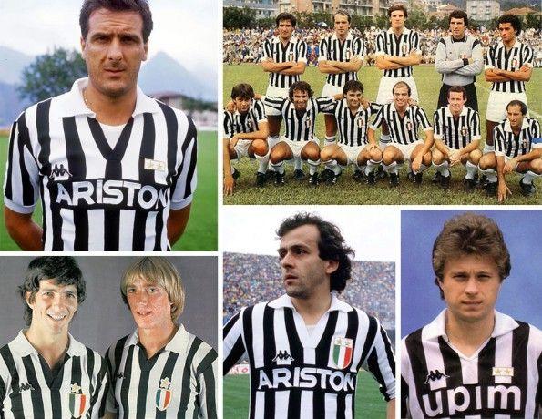 Juventus, maglie home, anni ottanta