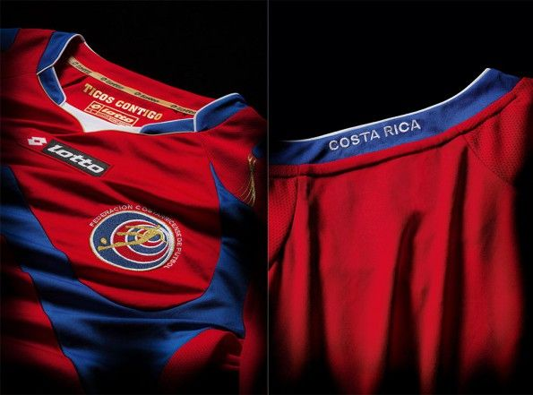 Kit Costa Rica home Lotto Mondiali 2014