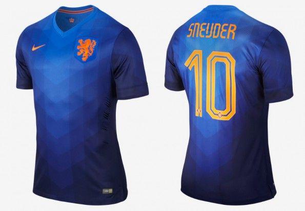 Maglia Olanda trasferta Mondiali 2014