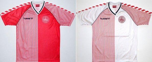 Le iconiche maglie Hummel della Danimarca al Mondiale 1986