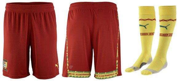 Pantaloncini calze Camerun home 2014