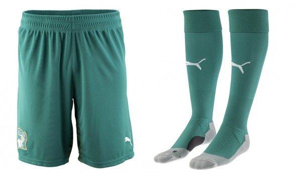 Pantaloncini calze Costa d'Avorio away 2014