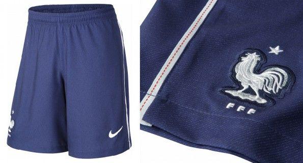 Pantaloncini Francia blu away 2014