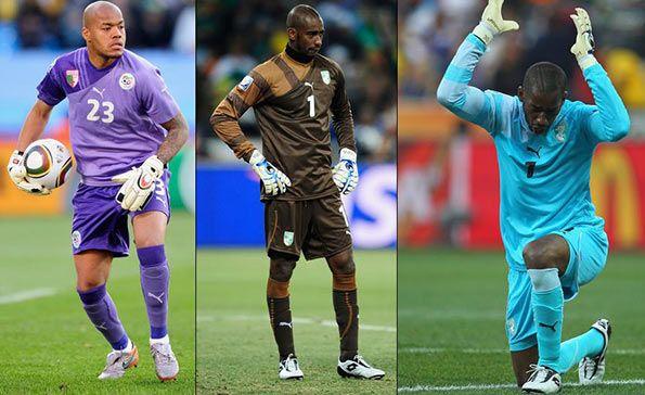 Maglie portiere squadre africane Puma 2010