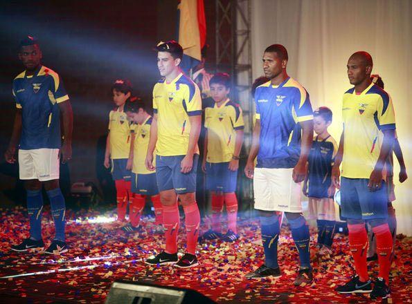 Presentazione kit Ecuador 2014 Mondiali