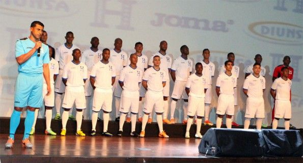 Presentazione maglie Honduras Mondiali 2014