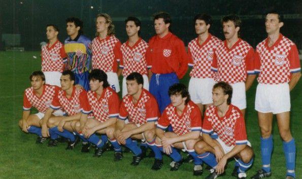 La Croazia nella sua prima partita ufficiale nel 1990