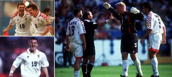 La seconda maglia della Croazia ad Euro 96