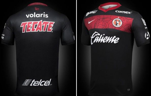 Club Tijuana 2014, maglia away, fronte-retro