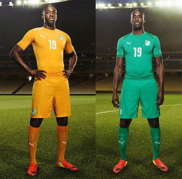 Yaya Tourè Costa d'Avorio kit 2014