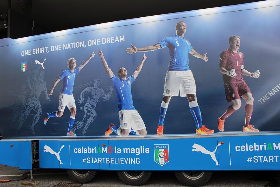 Truck Azzurro tour Italia
