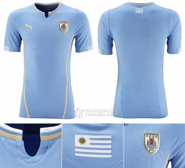 Maglia Uruguay home Mondiali 2014