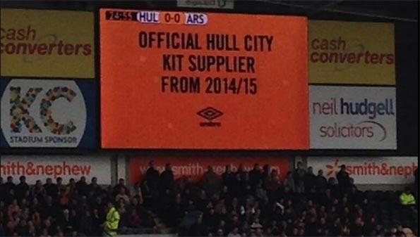Annuncio Umbro sponsor tecnico Hull City