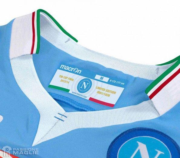 Colletto tricolore maglia Napoli Coppa Italia