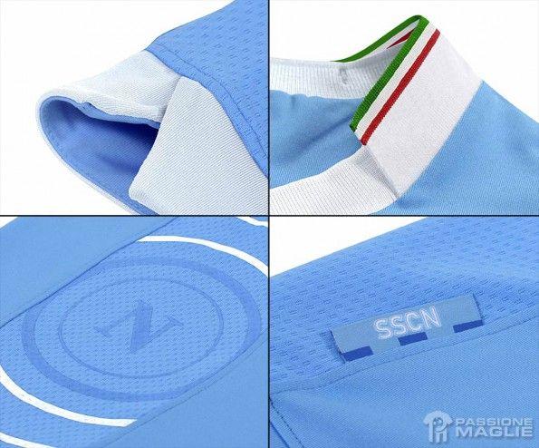 Dettagli maglia Napoli Coppa Italia 2014