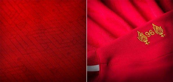 Dettaglio sfondo maglia Liverpool 2014-15