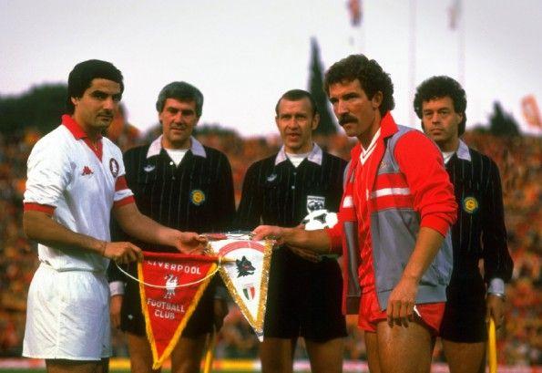 Di Bartolomei e Souness prima della finale di Coppa Campioni 1984