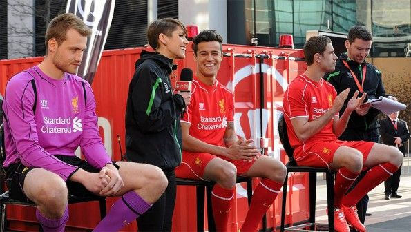 Intervista giocatori Liverpool kit launch