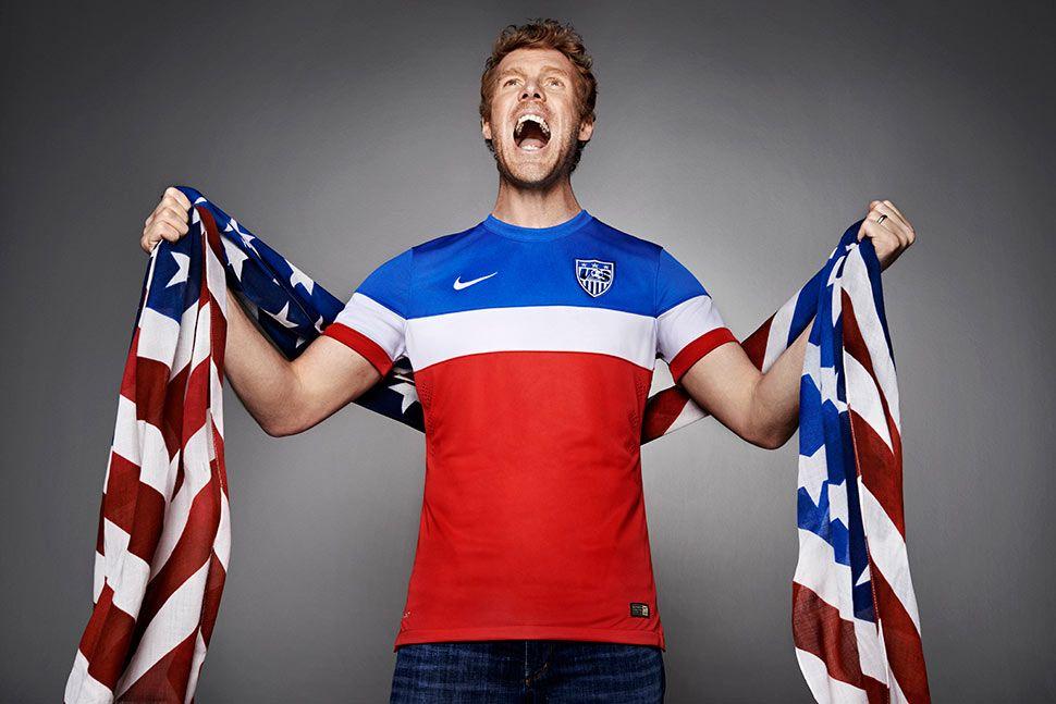 Alexi Lalas maglia USA away Mondiali 2014