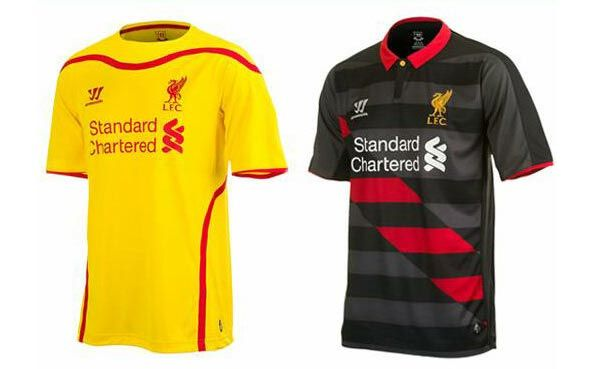 Anteprima maglie Liverpool away 2014-15