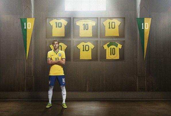 Neymar maglie Brasile numero 10