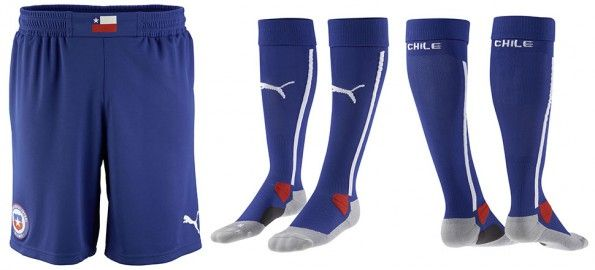 Pantaloncini calzettoni Cile home 2014