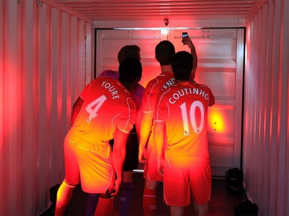 Selfie giocatori Liverpool