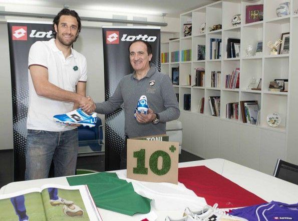 Luca Toni 10 anni con Lotto