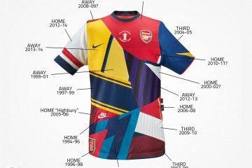 Maglia celebrativa Arsenal-Nike 20 anni