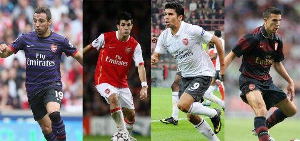 Cazorla, Fabregas, Van Persie in maglia Arsenal
