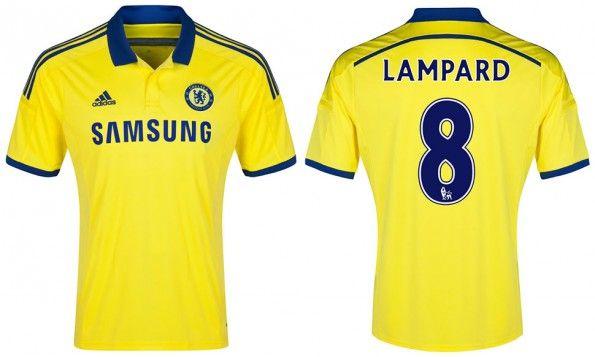 Seconda maglia Chelsea 2014-15 gialla