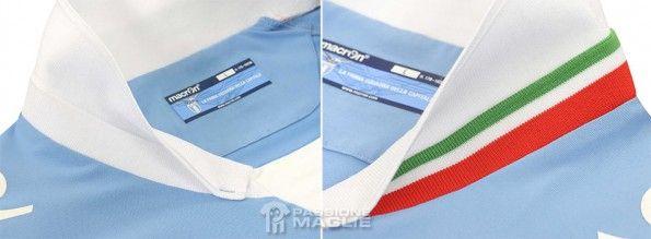 Colletto tricolore maglia Lazio 2014-15