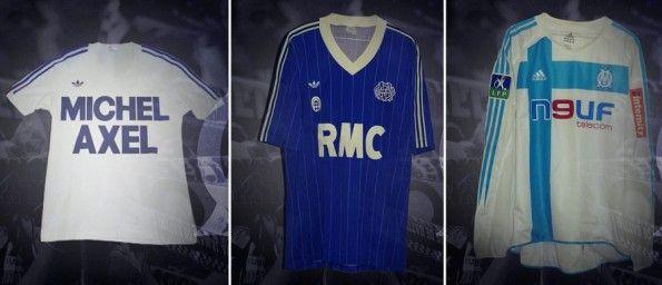 Le maglie adidas del Marsiglia 1975, 1985 e 2005