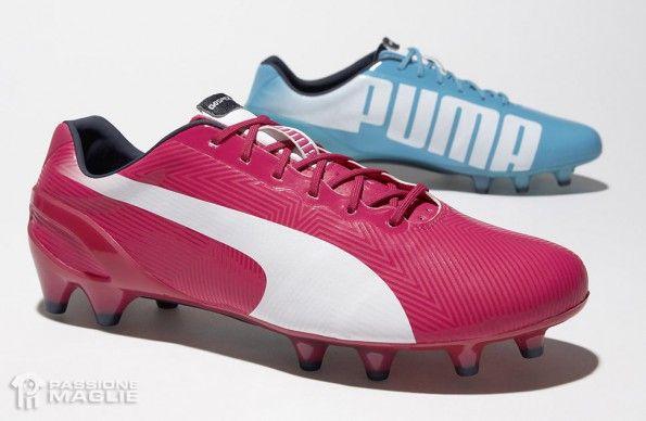Scarpini evoSpeed rosa-celeste Mondiali 2014