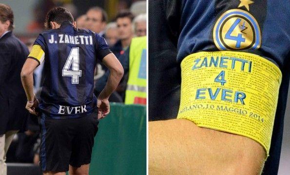 Fascia capitano Zanetti ultima partita