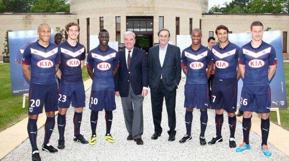 Giocatori del Bordeaux presentazione maglia 2014-2015