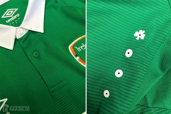 Dettagli maglia Irlanda 2014-15 home